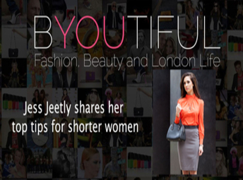 Jess jeetly on in London fashion mag byoutiful