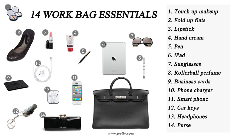 work bag essentials for women