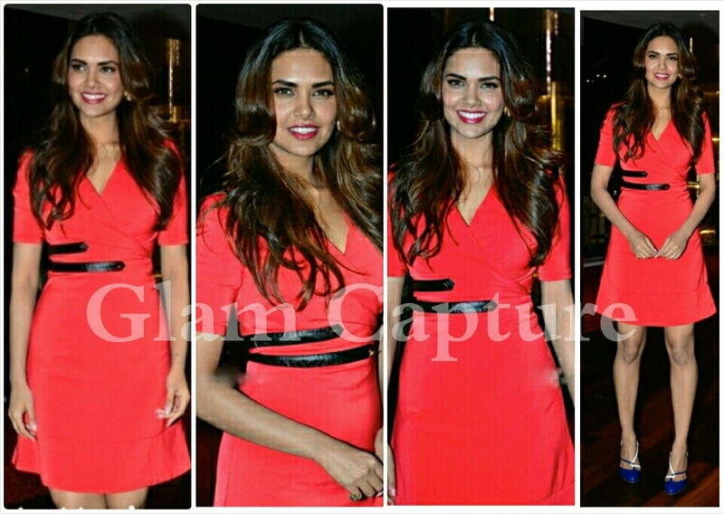 Esha gupta wearing jeetly on launch of new movie