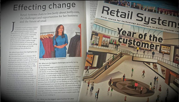 Jess Jeetly interviewed petite clothing retail systems