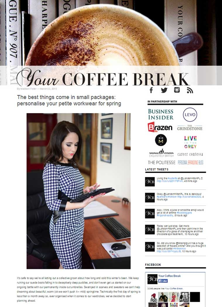 coffee break article with jeetly petite for fashion lifestlye