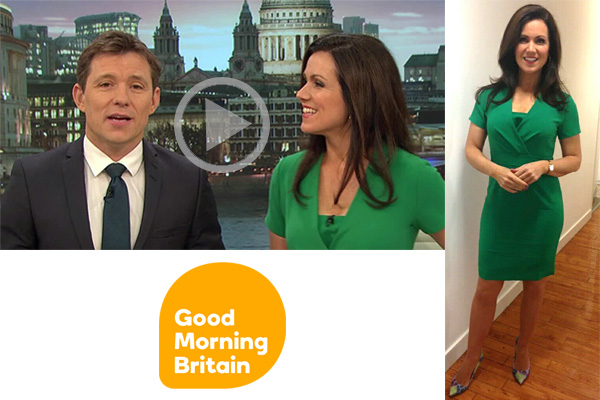 susanna Reid wearing jeetly green dress itv good morning britain