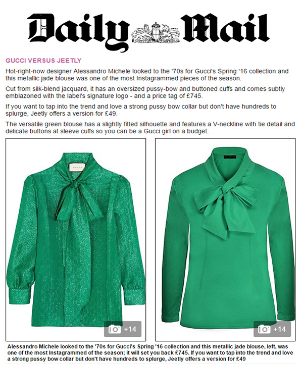 daily mail article green pussybow blouse petite jeetly