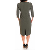 Petite olive grey shift dress
