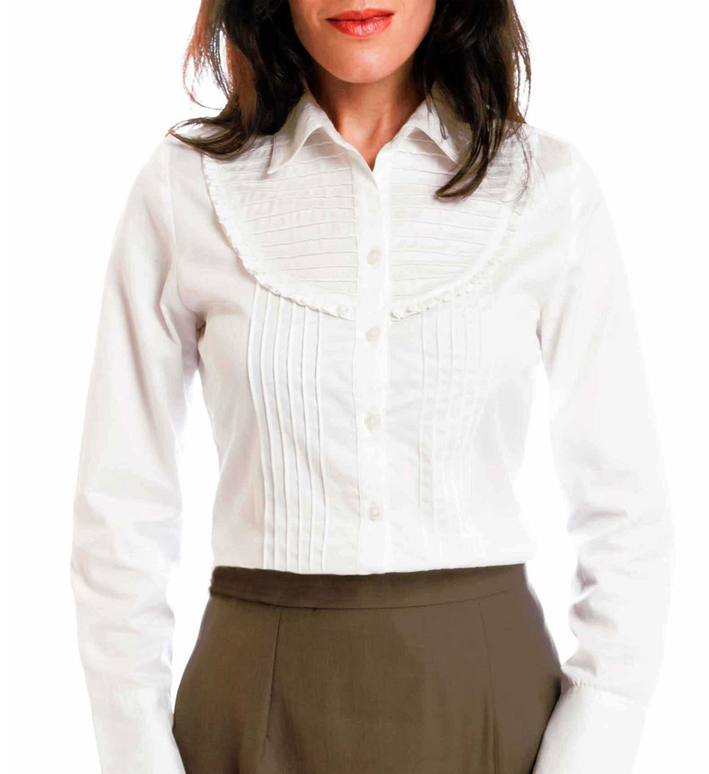 white petite shirt for women
