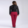 Petite burgundy tailored trousers