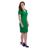 Petite green pencil dress