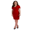 Petite red pencil dress