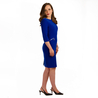 Petite blue fitted shift dress