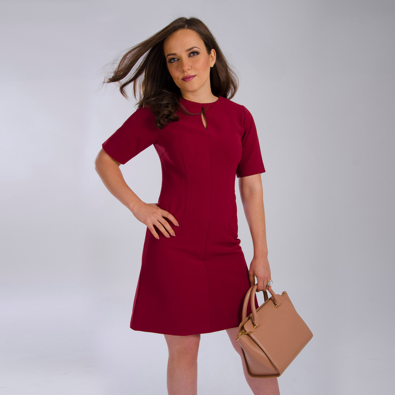 burgundy dress for petite women