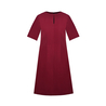 Petite burgundy shift dress