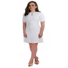 Petite white shift dress