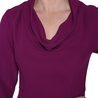 Petite berry cowl-neck dress