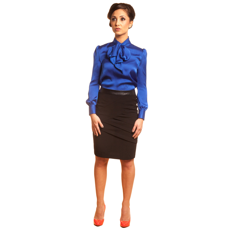 black petite pencil skirt for women 5'3 and under