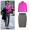 Petite grey pencil skirt