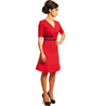 Petite red wrap dress