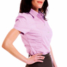 Petite purple ruched shirt