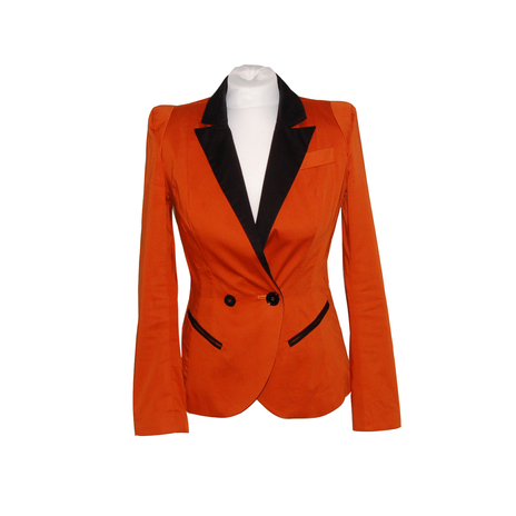 Burnt orange petite blazer