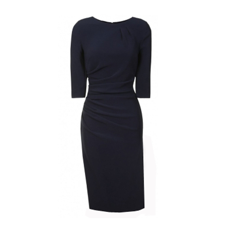 Pleated Navy dress