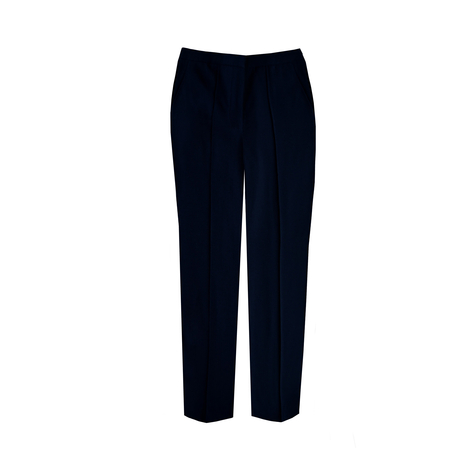 Petite navy tailored trousers