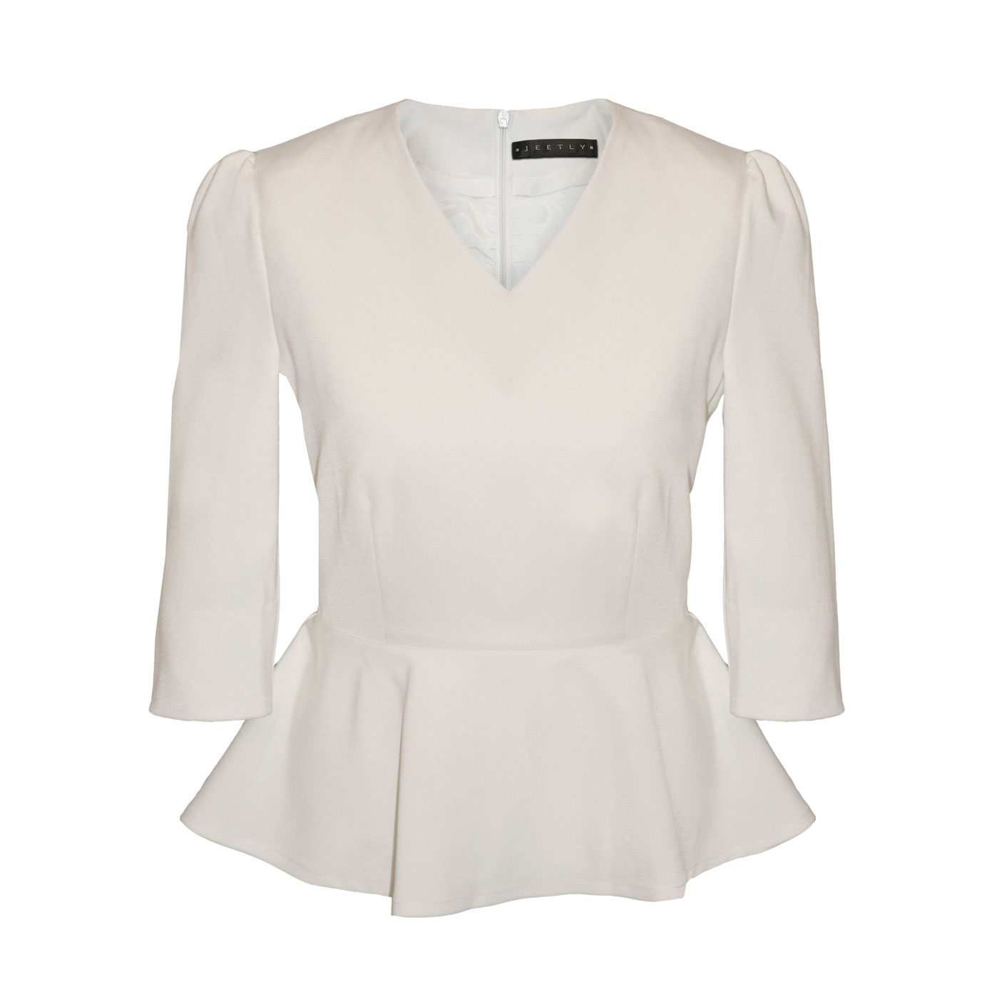 jeetly chloe petite white peplum top