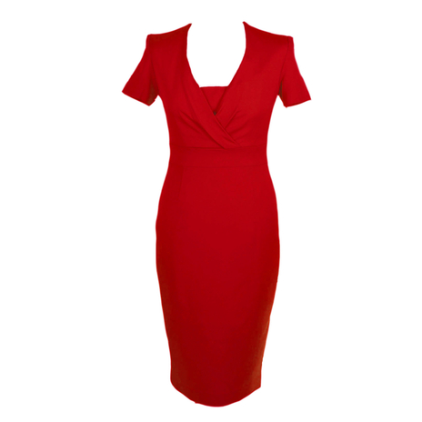 Brick red wrap front dress