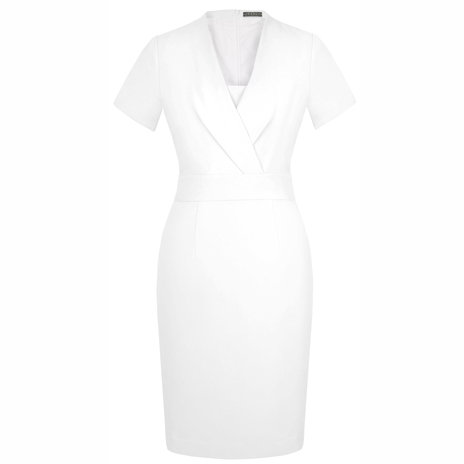 Petite white pencil dress