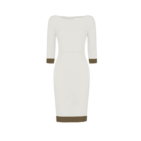 Fitted Pencil Dress Brown detail