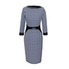 Petite houndstooth dress