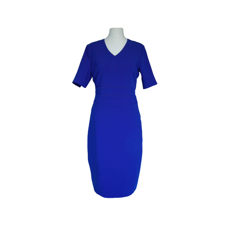 V-neck blue petite dress Jeetly
