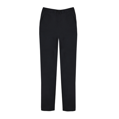 Petite tapered black trousers