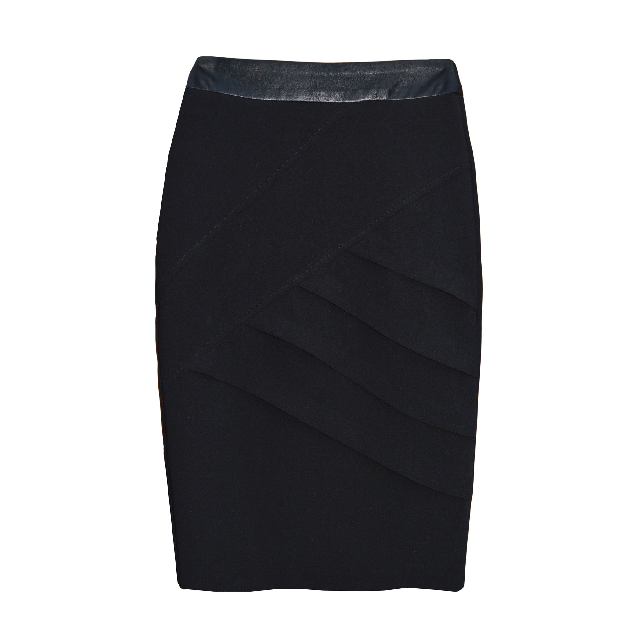 More Details THE ROW Rabina Scuba Pencil Midi Skirt, Black Details THE ROW