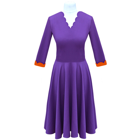 Purple fit and flare dress