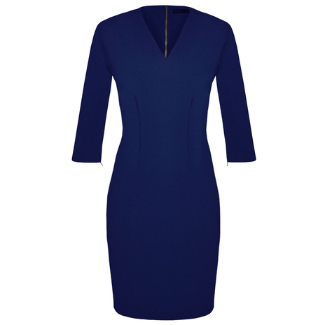 Petite navy tailored dress