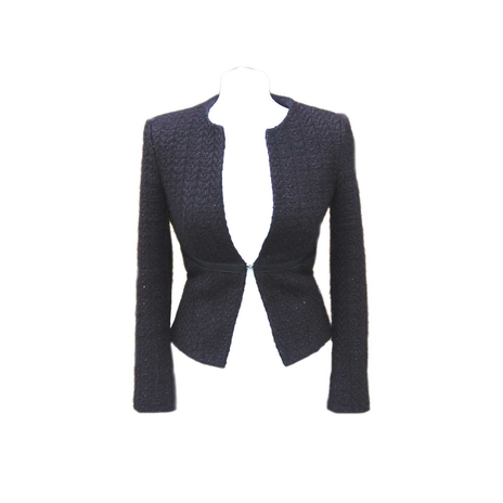 Tweed short black jacket
