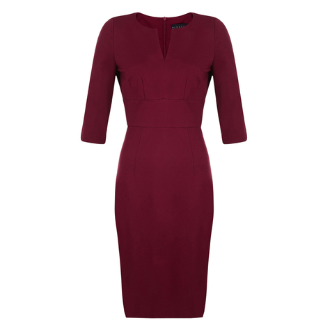 Petite burgundy dress