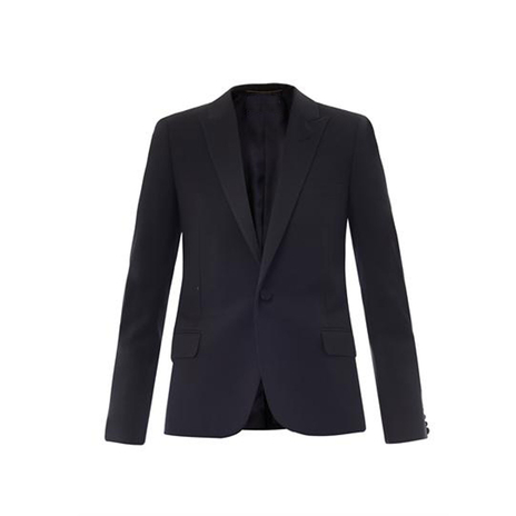 Navy single breasted blazer